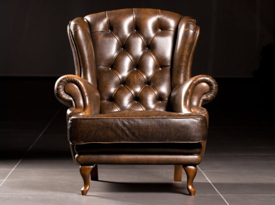 restored leather armchair nh