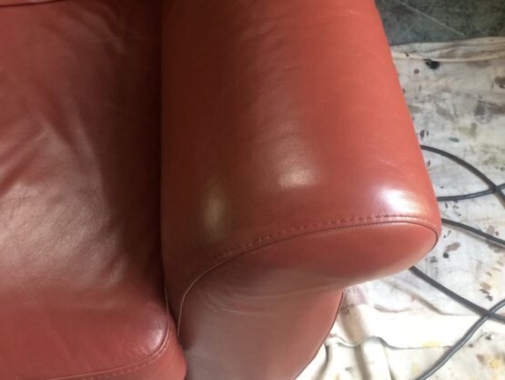 cleaned leather armchair nh